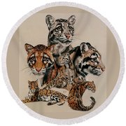 Absence Of Fear Round Beach Towel