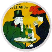 Absinthe Extra-superieure 1899 Round Beach Towel by Padre Art