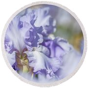 Absolute Treasure 1. The Beauty Of Irises Round Beach Towel