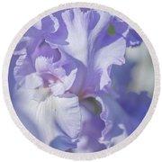 Absolute Treasure Closeup 2. The Beauty Of Irises Round Beach Towel