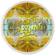 Absolutely Dazzling Hall Of Mirrors Versailles Palace Paris Round Beach Towel