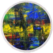 Abstract # 2  Round Beach Towel