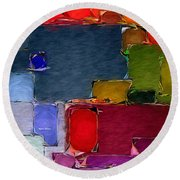 Abstract 005 Round Beach Towel