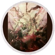 Round Beach Towel featuring the painting Abstract #01 by Raymond Doward