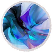 Abstract 012513 Round Beach Towel by David Lane
