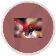Round Beach Towel featuring the painting Abstract #02 by Raymond Doward