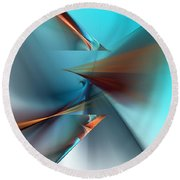 Abstract 040411 Round Beach Towel by David Lane