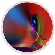 Abstract 042612a Round Beach Towel