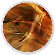 Abstract 060812a Round Beach Towel by David Lane
