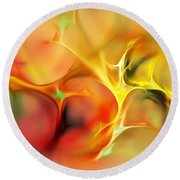 Abstract 061410a Round Beach Towel by David Lane
