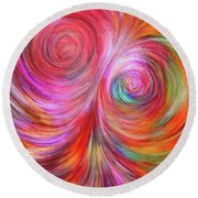 Abstract 072817 Round Beach Towel
