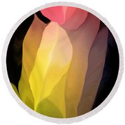 Abstract 082312 Round Beach Towel by David Lane