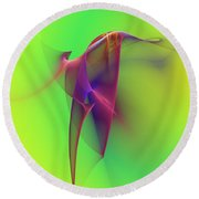 Round Beach Towel featuring the photograph Abstract 091610 by David Lane