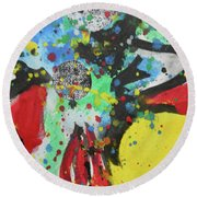 Abstract-1 Round Beach Towel