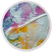 Round Beach Towel featuring the painting Abstract 1 by Tracy Bonin
