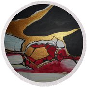 Abstract-11 Round Beach Towel