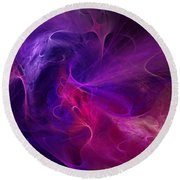 Abstract 111310b Round Beach Towel by David Lane