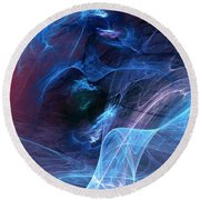 Abstract 111610 Round Beach Towel by David Lane