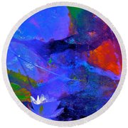Abstract 112 Round Beach Towel by Pamela Cooper