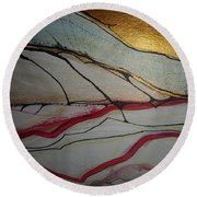 Abstract-12 Round Beach Towel