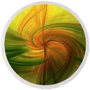 Abstract 12 Round Beach Towel