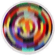 Abstract 120116 Round Beach Towel by Maciek Froncisz