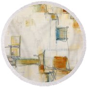 Abstract 1207 Round Beach Towel