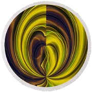 Abstract 121510 Round Beach Towel