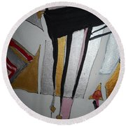 Abstract-13 Round Beach Towel