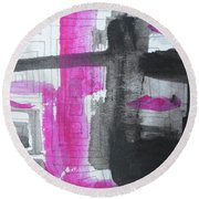 Abstract-15 Round Beach Towel