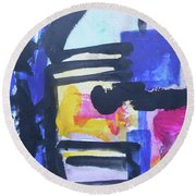 Abstract-16 Round Beach Towel