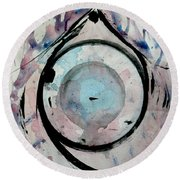 Abstract 16 Round Beach Towel