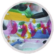 Abstract-17 Round Beach Towel