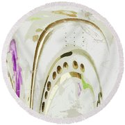 A Touch Of Gold Round Beach Towel
