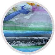 Abstract-18 Round Beach Towel