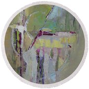 Abstract 1809a Round Beach Towel