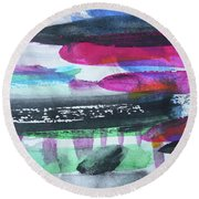 Abstract-19 Round Beach Towel