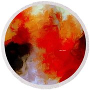 Round Beach Towel featuring the digital art Abstract 1909f by Rafael Salazar