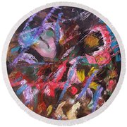 Abstract 2 Round Beach Towel