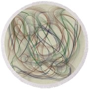Abstract 2018-1 Round Beach Towel