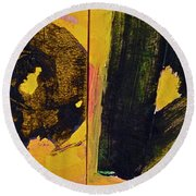 Abstract 2071-diptych Round Beach Towel