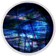 Abstract-20a Round Beach Towel