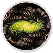 Abstract 213 Round Beach Towel
