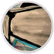 Abstract-22 Round Beach Towel