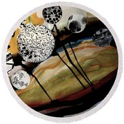 Abstract-23 Round Beach Towel