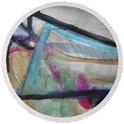 Abstract-24 Round Beach Towel