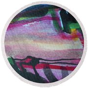 Abstract-25 Round Beach Towel