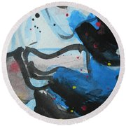 Abstract-26 Round Beach Towel