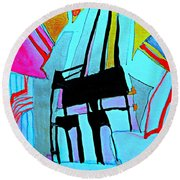 Abstract-28 Round Beach Towel
