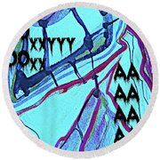 Abstract-29 Round Beach Towel